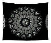 Kaleidoscope Ernst Haeckl Sea Life Series Black And White Set 2  Tapestry