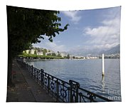 Lake Front With Trees Tapestry