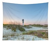Sullivan's Island Dunes To Lighthouse View Tapestry