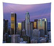 Los Angeles Skyline Sunset Tapestry