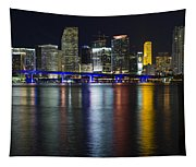 Miami Downtown Skyline Tapestry
