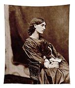 Portrait Of Jane Morris Tapestry