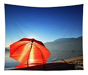 Red Umbrella Tapestry