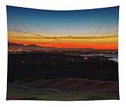 Seattle Skyline Waterfront Tapestry