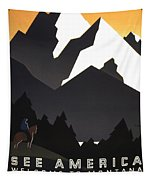 See America Poster, C1937 Tapestry