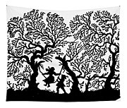 Silhouette 19th Century Tapestry