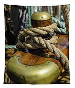 Tall Ship Rigging Vertical Tapestry