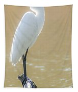 Still Waters White Heron Tapestry