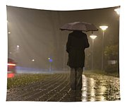 Woman With An Umbrella Tapestry