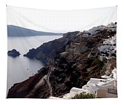 Views Of Santorini Greece Tapestry