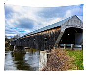 460 Foot Long New Hampshire Covered Bridge Tapestry
