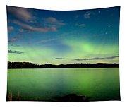 Aurora Borealis Northern Lights Display Tapestry