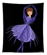 5 Blue Ballerina Tapestry