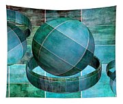 5 By 5 Ocean Geometric Shapes Tapestry