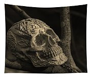 Celtic Skulls Symbolic Pathway To The Other World Tapestry