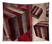 5 Fire Cubed Tapestry