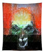 Halloween Mask Tapestry