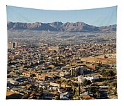 Panoramic View Of Skyline And Downtown Tapestry
