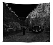 Parking Next To A Loch In The Scottish Highlands Tapestry