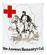 Red Cross Poster, C1917 Tapestry