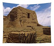 Ruins Of The Pecos Pueblo Mission Tapestry