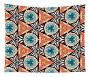 Seamlessly Tiled Kaleidoscopic Mosaic Pattern Tapestry