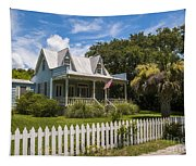 Sullivan's Island Tin Roof Story Book Cottage Tapestry