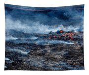Volcano Eruption At The Holuhraun Tapestry