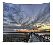 Wando River Sunset Tapestry
