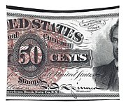 50 Cent Lincoln Bill  1863 Tapestry