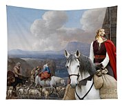 Borzoi - Russian Wolfhound Art Canvas Print Tapestry