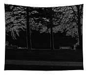 A Bench And Path On The Shore Of Loch Ness In Scotland Tapestry