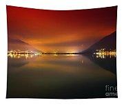 Alpine Lake At Night Tapestry