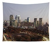 High Angle View Of A City Tapestry