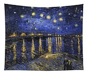 Starry Night Over The Rhone Tapestry
