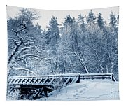 Winter White Forest Tapestry