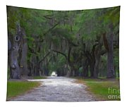 Allee Of Live Oak Tree's Tapestry