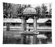 Premises Of The Hindu Temple At Mattan With A Water Pond Tapestry