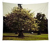 Tree With Large White Flowers Tapestry