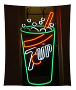 7 Up Sign Tapestry