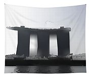 View Of The Towers Of The Marina Bay Sands In Singapore Tapestry