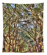 Plantation Allee Of Oaks Tapestry