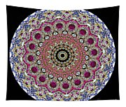Kaleidoscope Colorful Jeweled Rhinestones Tapestry