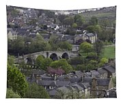 Old Stirling Bridge And Houses As Visible From Stirling Castle Tapestry