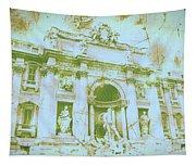Trevi Fountain Landscape Tapestry
