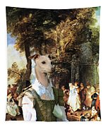 Italian Greyhound Art Canvas Print  Tapestry