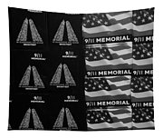 9/11 Memorial For Sale In Black And White Tapestry