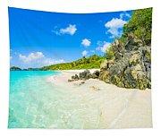 Beautiful Caribbean Beach Tapestry