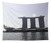 The Artscience Musuem And The Marina Bay Sands Resort In Singapore Tapestry