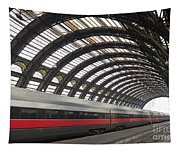 Train Station Tapestry